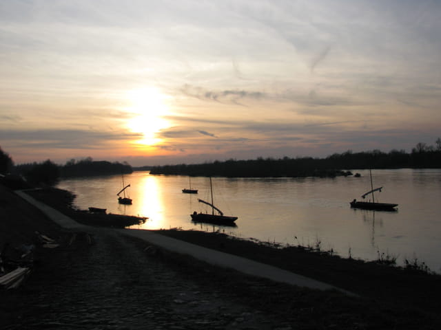Couché de soleil sur la Loire