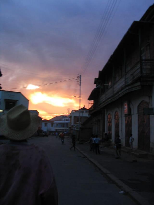 Coucher de soleil à Antsirabe