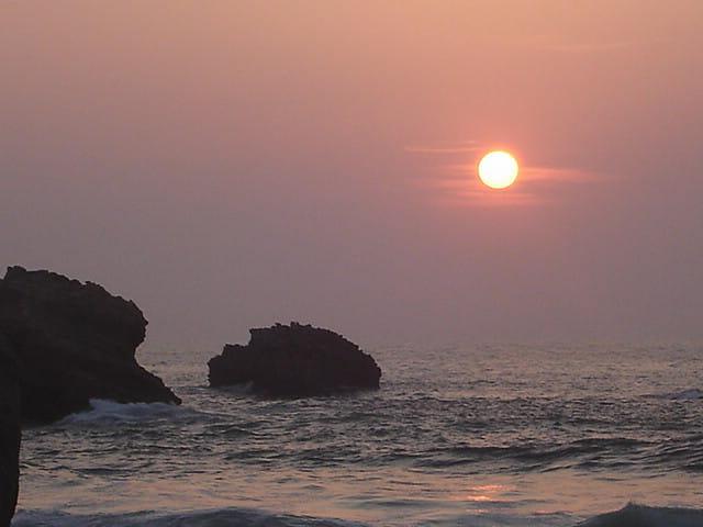 Coucher de soleil a Biarritz