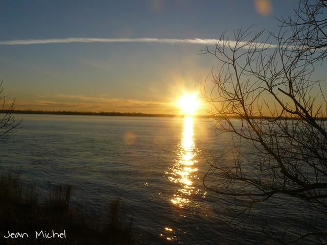 Coucher de soleil à Blaye