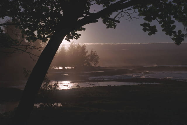 Coucher de soleil à Hilo