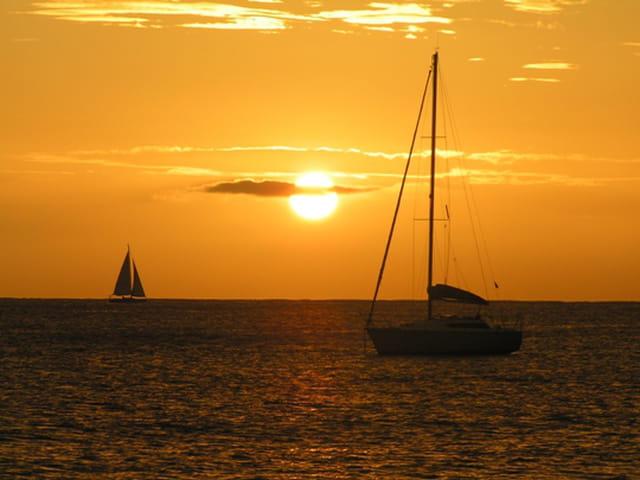 Coucher de soleil à l'Anse d'Arlet