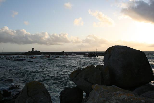 Coucher de soleil a la pointe de Trevignon
