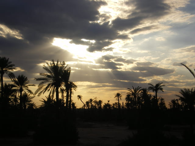 Coucher de soleil a marrakech