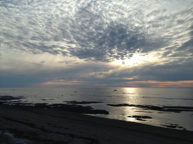 Coucher de soleil à Sainte-Flavie en Gaspésie