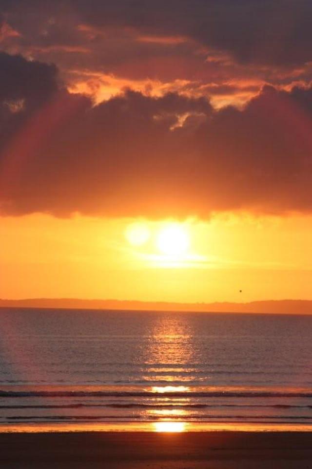 Coucher de soleil à Saint-Anne-la-Palud