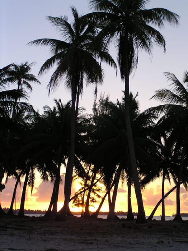 Coucher de soleil à tikehau