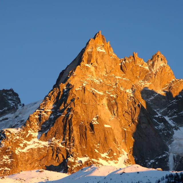 Coucher de soleil aiguilles de Chamonix