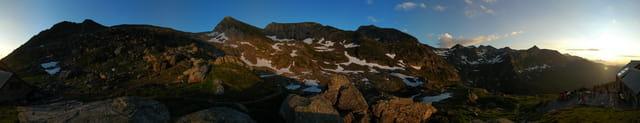 Coucher de Soleil au Mont Valier