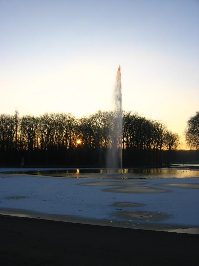 Coucher de soleil au parc de Sceaux