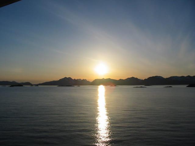 Coucher de soleil aux iles lofoten