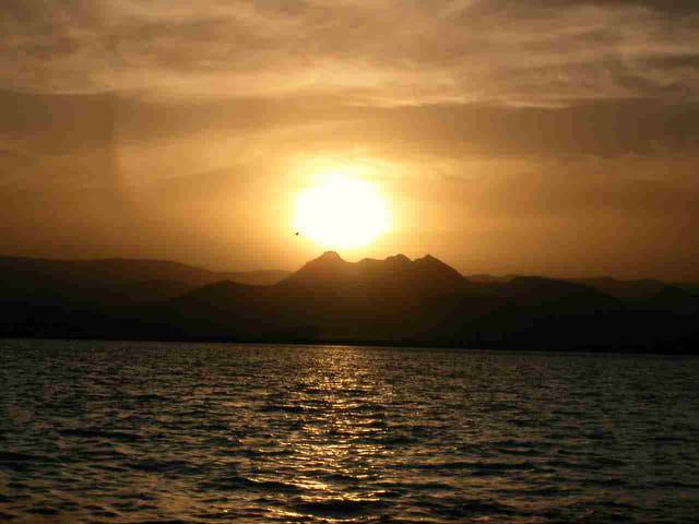 Coucher de soleil - chaîne aravalli