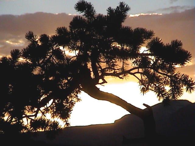 Coucher de soleil dans l'Utah