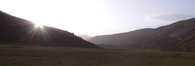 Coucher de soleil dans le Haut Atlas