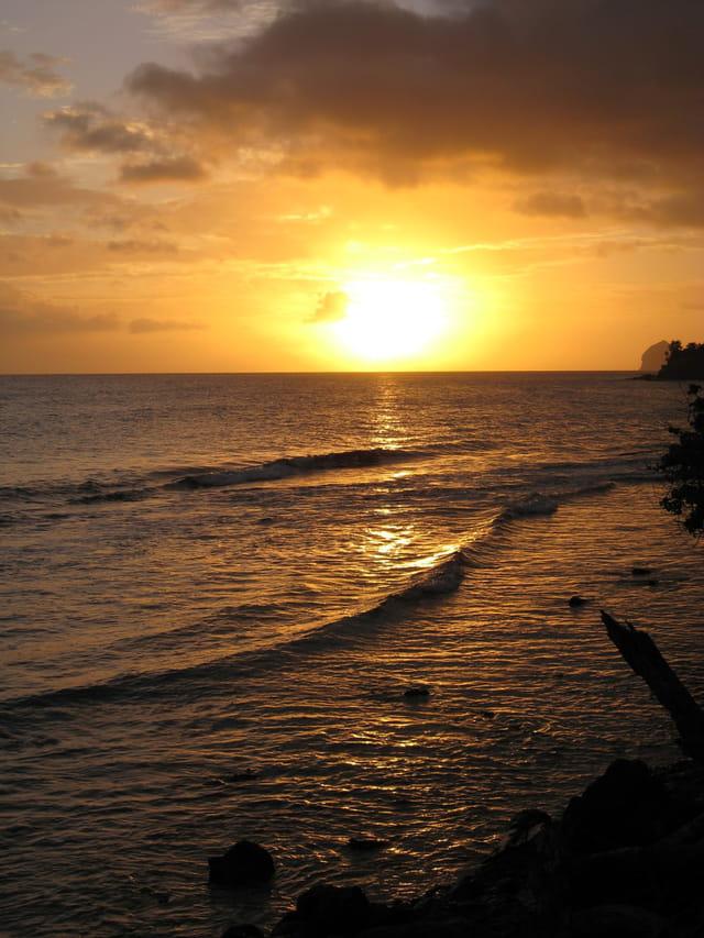 Coucher de soleil de la Martinique