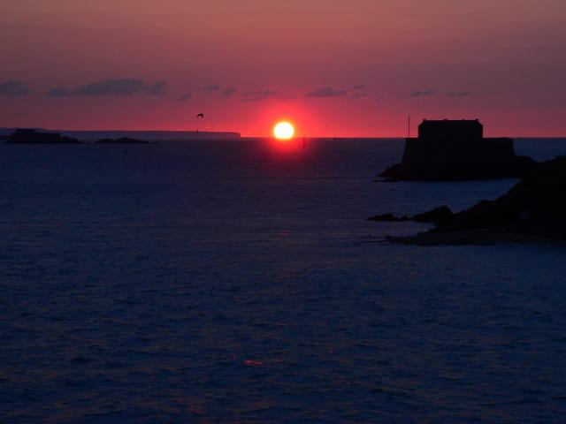 Coucher de soleil depuis les remparts de Saint Malo