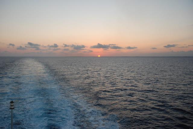 coucher de soleil du Célestyal Cruise