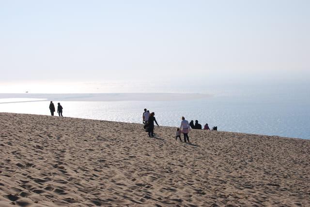 Coucher de soleil du haut de la dune