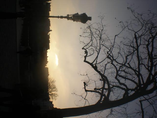 Coucher de soleil hivernal sur Paris