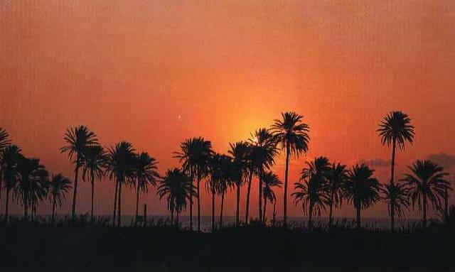 Coucher de soleil marocain