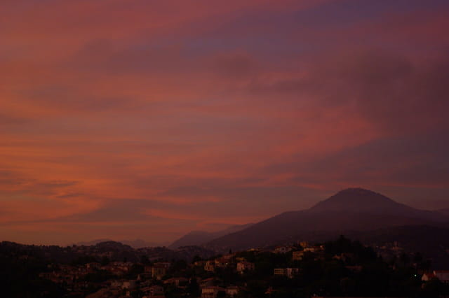 coucher de soleil, nice