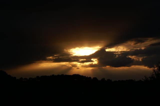 Coucher de Soleil nuageux