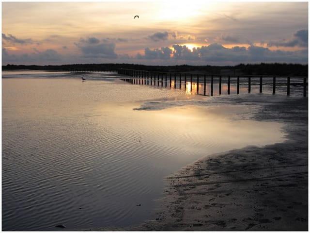 Coucher de soleil, plage Napoléon 2