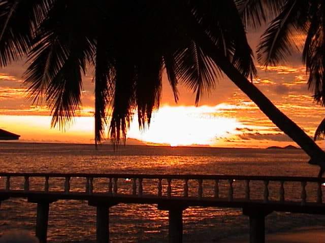 Coucher de soleil seychellois