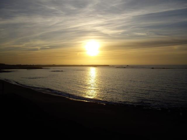 Coucher de soleil sue la presqu'île de QUIBERON