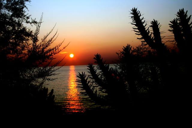 coucher de soleil sur ajaccio