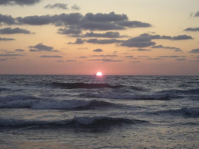 Coucher de soleil sur Ashkélone