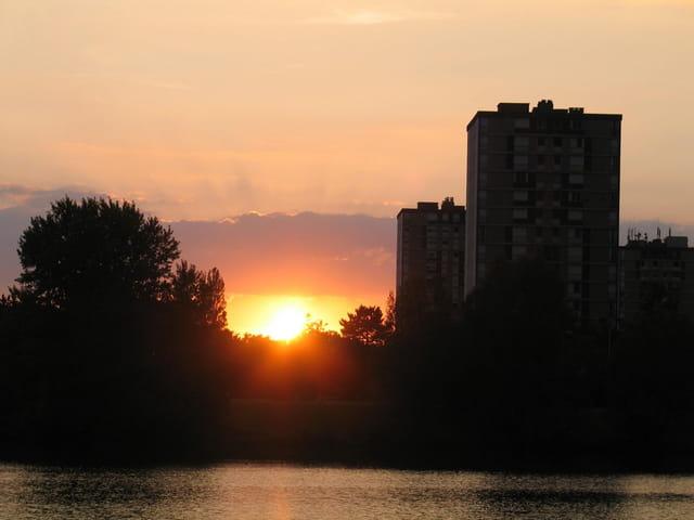 Coucher de soleil sur Chalon