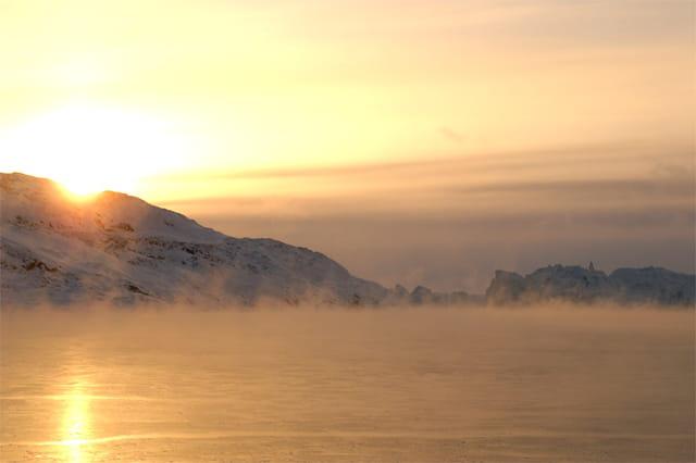 Coucher de soleil sur Iceberg