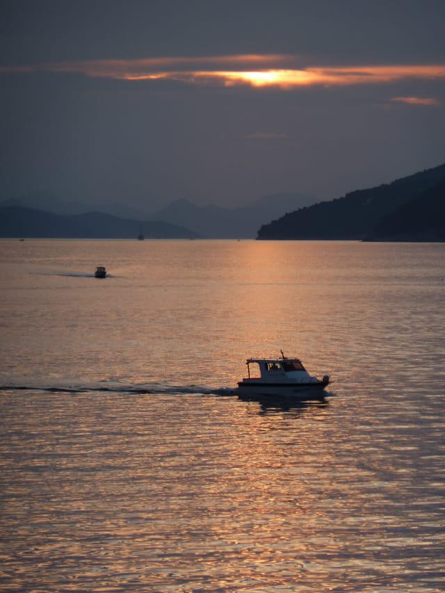 Coucher de soleil sur l'Adriatique
