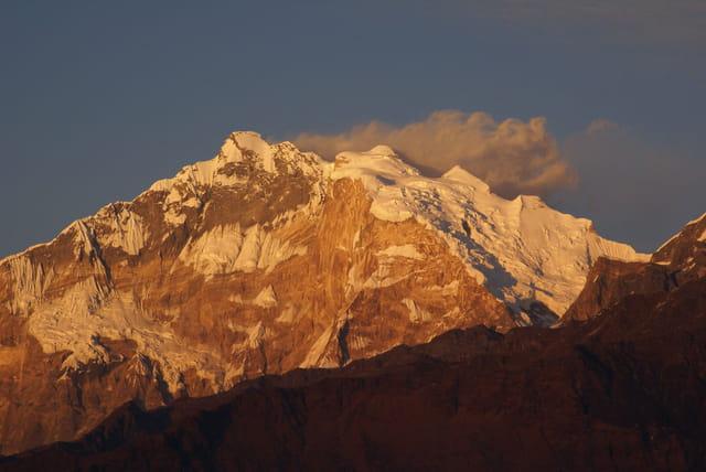 Coucher de soleil sur l'Annapurna