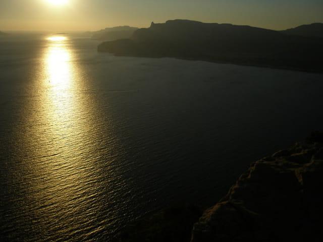 Coucher de soleil sur la baie de Cassis