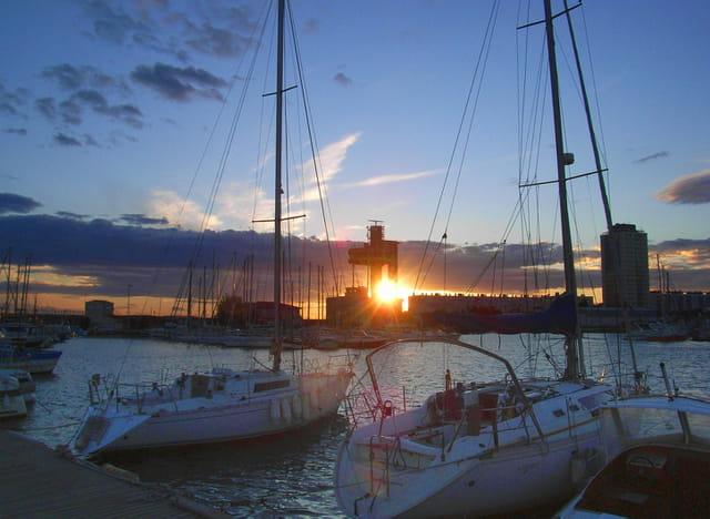 coucher de soleil sur la capitainerie