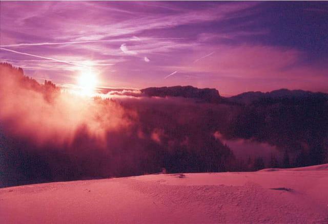 Coucher de soleil sur la Chartreuse