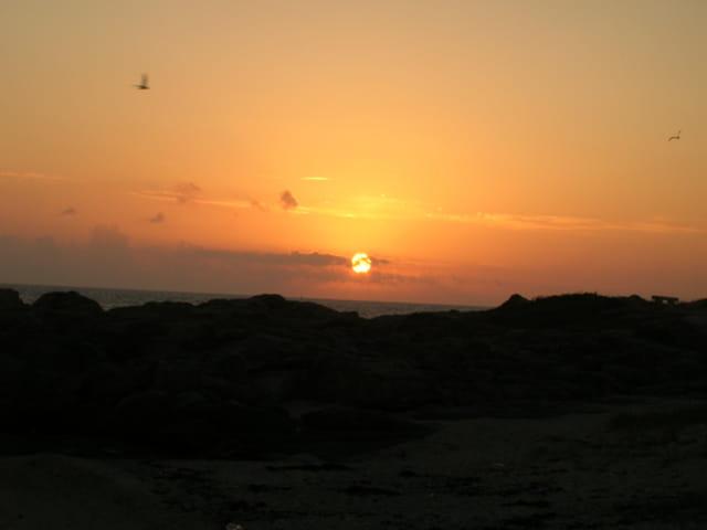coucher de soleil sur la côte sauvage du Croisic (44)