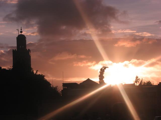Coucher de soleil sur la Koutoubia