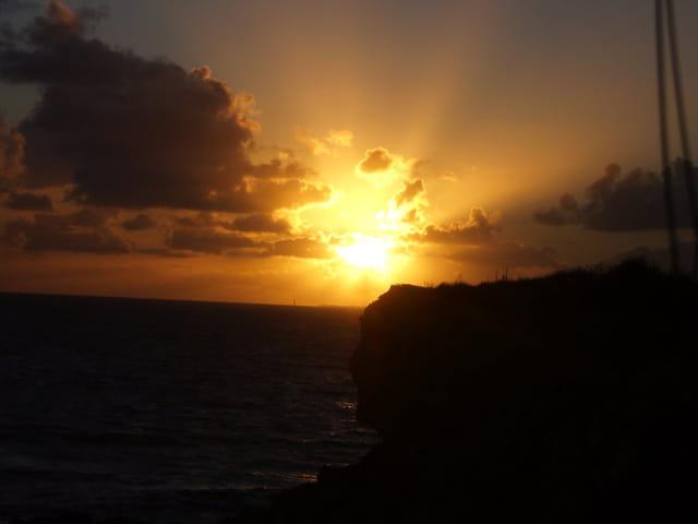 Coucher de soleil sur la pointe du Chay