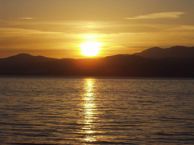Coucher de soleil sur le lac de Galilée