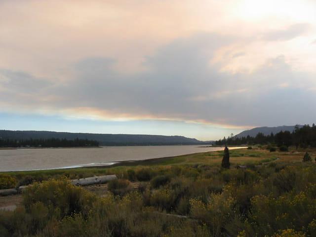 Coucher de soleil sur le lac du Gros Ours