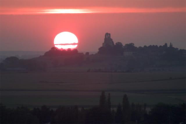 Coucher de soleil sur le mont Saint-Eloi