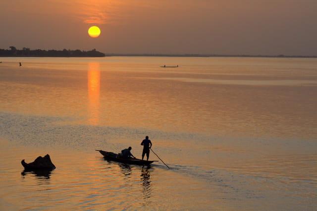 Coucher de soleil sur le Niger