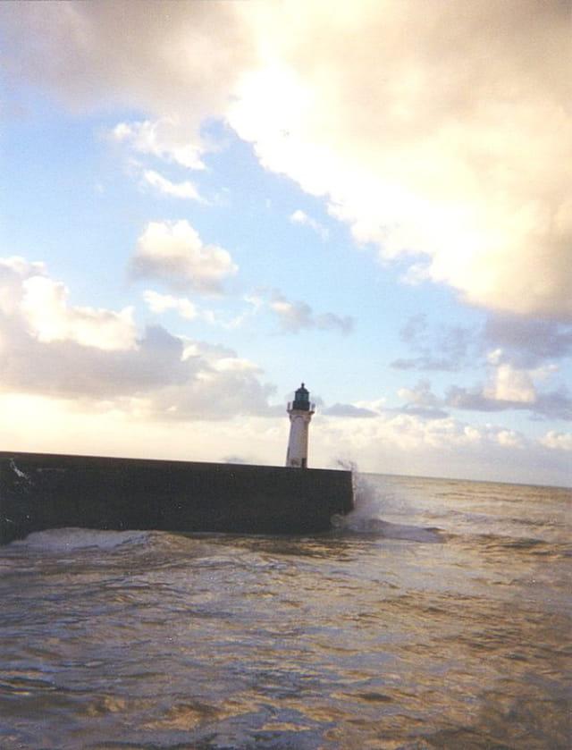Coucher de soleil sur le phare