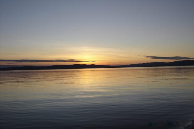 Coucher de soleil sur le Saint Laurent
