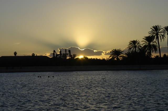 Coucher de soleil sur Marrakech