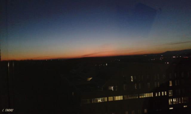 Coucher de soleil sur Mulhouse
