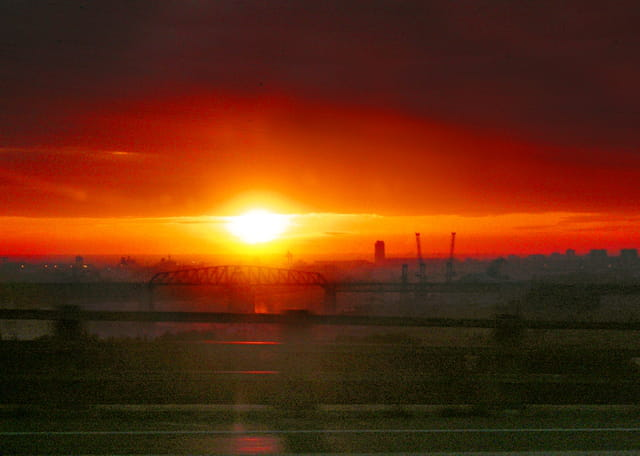 Coucher de soleil sur Port de Bouc